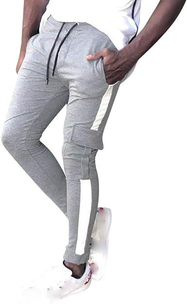 MOVERV-Pantalones para Hombre Casuales Deporte Elásticos Joggers ...