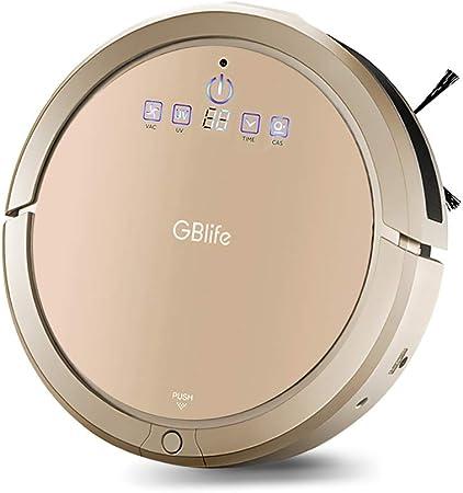 GBlife Robot Aspirador (automático 3 en 1), tiempo de funcionamiento de 80 min, capacidad de papelera de 400 ml, rendimiento de limpieza de 1200Pa para pelo de animales, suelos duros: Amazon.es: Hogar