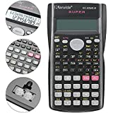 Whitelotous Portable Multifunctional Scientific Calculator with Battery - Black