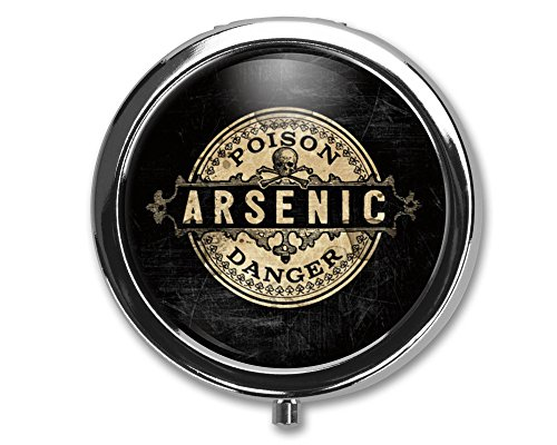Arsenic Vintage Style Pill Box Case Pillbox Holder Trinket Stash Box Arsenic Vintage Style Medicine Vitamin Pill Organizer ()
