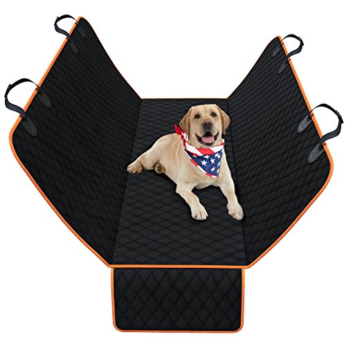 Dog Back Seat Cover Protector – Waterproof, Scratchproof, Nonslip Hammock for Dogs. Backseat Protection Against Dirt, Pet and Fur. Durable Pets Seat Covers for Cars, Trucks, SUVs – Black
