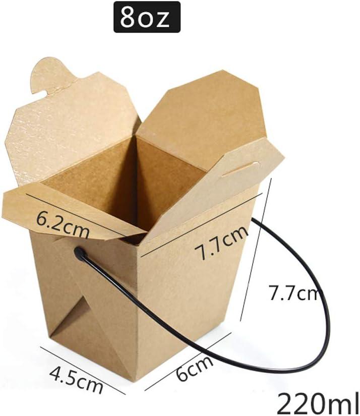 Compra GYT Caja de Embalaje de Papel Kraft desechable – Pasta Fritas Pollo Frito Snack Box [100 Unidades] en Amazon.es