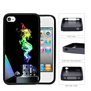 Flame Lighter Colorful Light Spectrum Rubber Silicone TPU Cell Phone Case Apple iPhone 4 4s