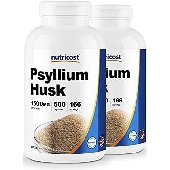 Amazon.com: Nutricost Psyllium Husk 500mg; 500 Capsules (2