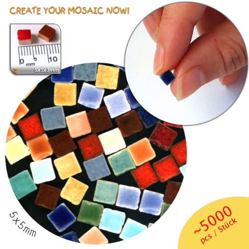 Mosaic-Minis(3/16 inch) (5x5x3mm), 5.000 pieces, Random mix all, MXAL