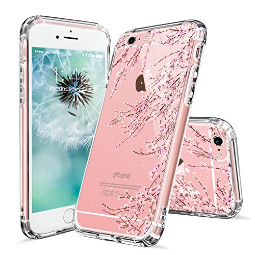 Cheap Cases iPhone 6s Case, iPhone 6 Clear Case, MOSNOVO Cherry Blossom Floral Printed..