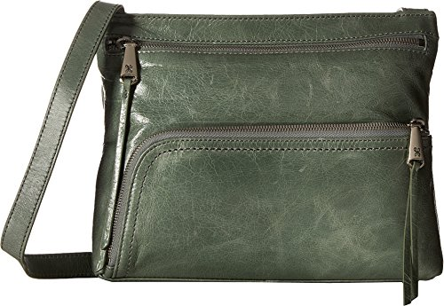 [Hobo Womens Genuine Leather Vintage Cassie Crossbody Bag (Bottle Green)] (Hobo Purse)