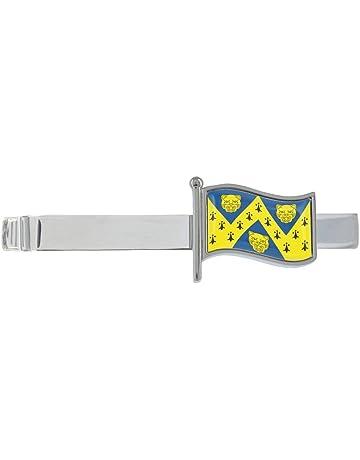 UAE Wavy Flag Rhodium Plated Tie Clip in Gift Box