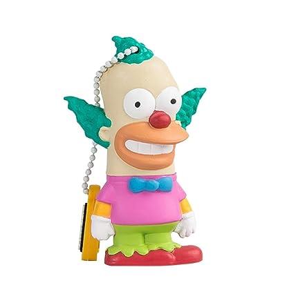Tribe Los Simpsons Krusty el Payaso - Memoria USB 2.0 de 8 GB Pendrive Flash Drive de Goma con Llavero