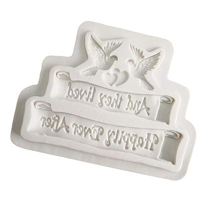Food Grade Dove of Peace Shape Resin Mold Mould Silicone Fondant-Cake-DecorToolC