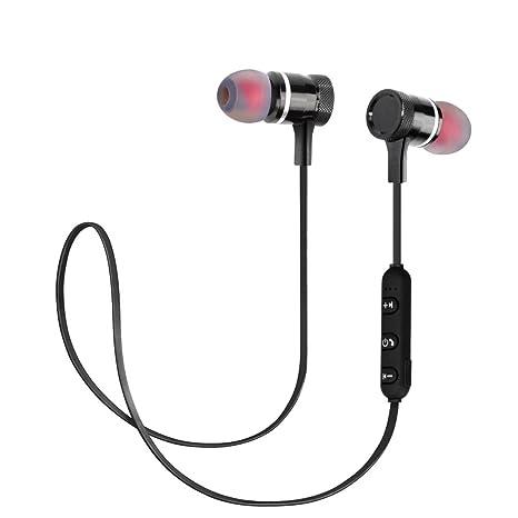 Jayboson Auriculares Bluetooth 4.1 Deporte inálambrico, Auricular Imán Magnético, Micrófono Incorporado, Auriculares Bluetooth