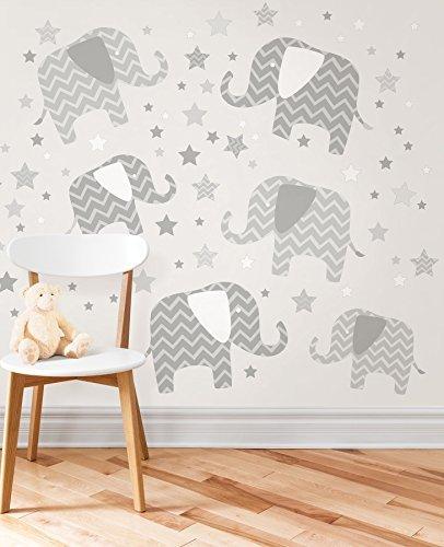 Wall Pops WPK1804 Elephants, a Ton of Love Wall Art Kit by Wall Pops