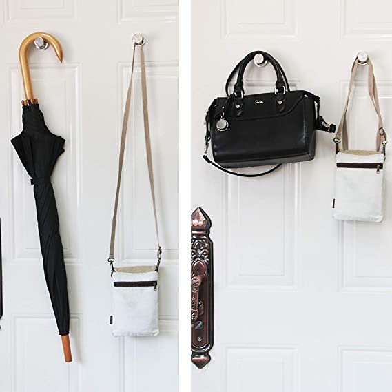 D36 black-2 Workplace MHDMAG 140LBS Coat Magnetic Hooks Home Magnetic Push Pins with Rare Earth Neodymium for Hang Bags Black Magnet Hooks Heavy Duty Magnet Hanger Office Refrigerator or Travel