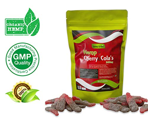 Hemp Gummies 300mg- 20mg per Serving- 30 ct- Organic Hemp Extract - Relaxing, Pain Relief, Stress & Anxiety Relief - Sleep Better by Living Green (Cherry Cola's)