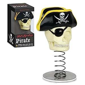 Dashboard Pirate Skull Bobblehead