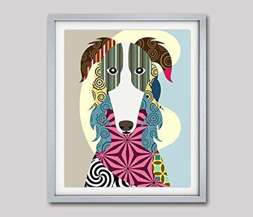 """Borzoi Art Russian Wolfhound Pop Giclée Print-8"""" x 10"""", 11"""" x 14"""" (UNFRAMED)"""
