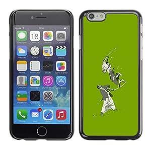 Be Good Phone Accessory // Dura Cáscara cubierta Protectora Caso Carcasa Funda de Protección para Apple Iphone 6 Plus 5.5 // Green Japanese Samurai Warriors