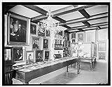 Vintography 24 x 30 Giclee Unframed Photo Marine Room East India Marine Hall Peabody Museum Salem Salem Mass 1910 Detriot Publishing co. 08a