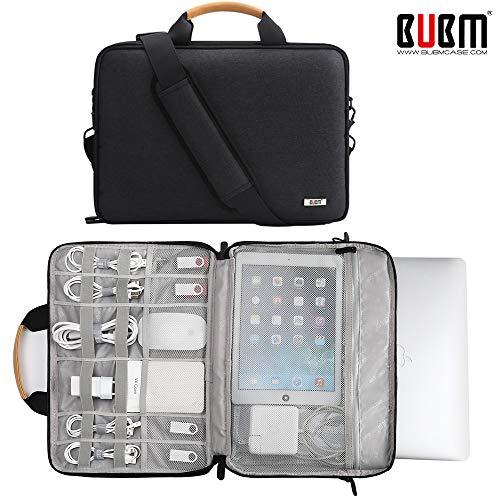 BUBM 360 Protective Laptop Shoulder Bag for 15.6 Inch Acer Aspire 3/5/7 Laptop, HP Pavilion 15.6, Dell Inspiron 15 3000, 15.6 ASUS ROG Zephyrus and ASUS Lenovo Samsung 15 Inch Notebook