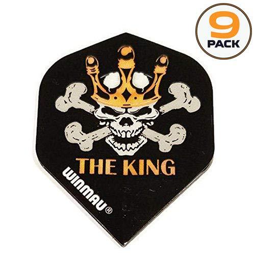 Art Attack 9 Pack Winmau Mega Black Mervyn King Jolly Roger