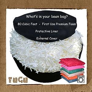 Fugu 8-Foot Bean Bag Chair, Olive