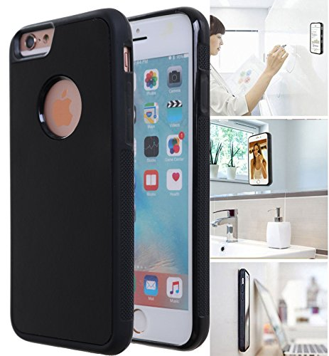 [ Monca ] Anti Gravity Cellphone Case [Black] Magical Nano Technology Stick to Wall, Glass, Whiteboards, Tile, Smooth Flat Surfaces (Goat Case for iPhone 6S Plus)