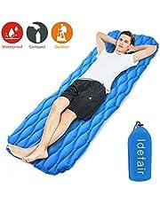 Idefair Inflatable Sleeping Pad,Ultralight Camping Mats Mattress Waterproof Air Sleeping Mat for Home Tents Hiking Backpacking Camping Travelling Hammock Beach