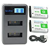 SmilePowo NP-BX1 Battery (2-Pack) and Rapid Dual Charger for Sony NP-BX1, NP-BX1/M8 and Sony Cyber-Shot DSC-HX50V, DSC-HX300, DSC-HX400,DSC-RX1, DSC-RX1R, DSC-RX100