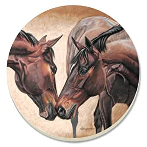 CounterArt Horse Kiss Absorbent Coasters, Set of 4