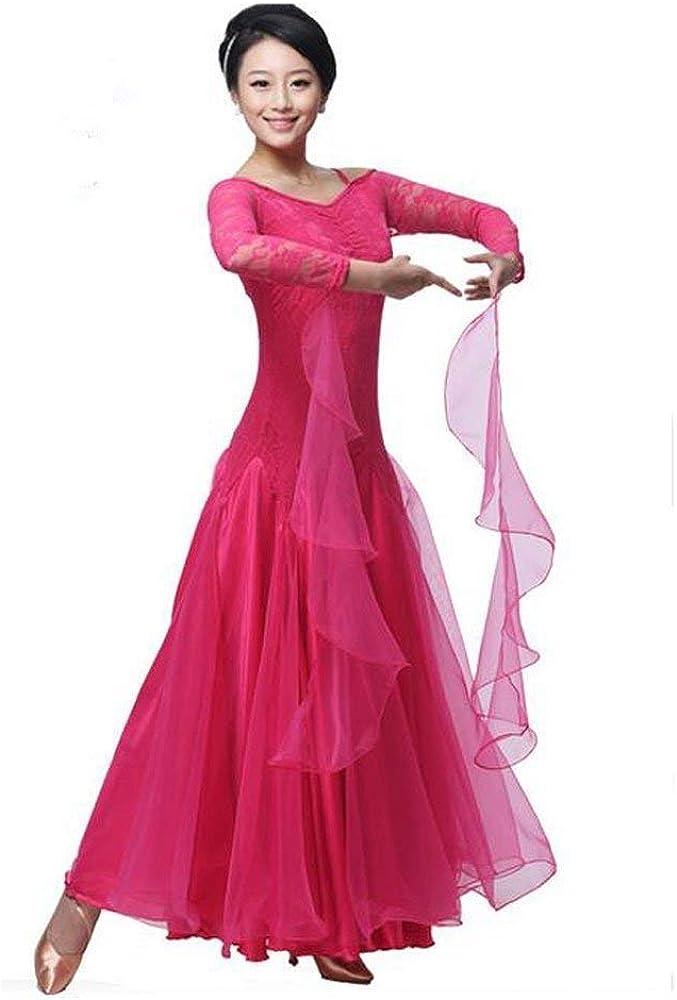 BellyQueen Women Modern Waltz Tango Dancing Clothes Ballroom Dance Skirts : Clothing