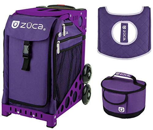 Zuca Sport Bag - Rebel with Gift Lunchbox and Seat Cover (Purple Frame) by ZUCA