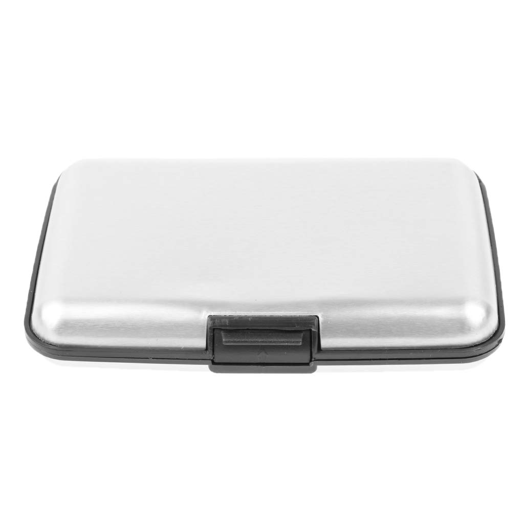 11 X 7.5 X 2 cm sharprepublic Soporte de Tarjeta de Visita de Aluminio para Tarjetas de Visita de Almacenamiento