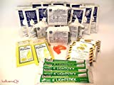 2DAY EMERGENCY SURVIVAL FOOD BARS, WATER AND GEAR FOR BOAT DITCH BAG