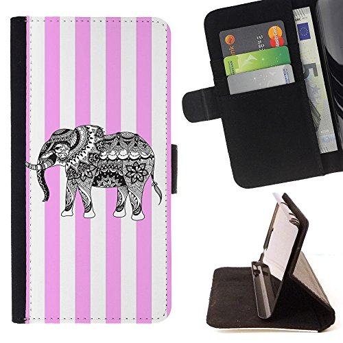 Tribal Elephant T-light Holder (Graphic4You Tribal Elephant Lines Pattern (Light Pink) Thin Wallet Card Holder Leather Case Cover for Motorola Moto E5 Play/Moto E5 Cruise)