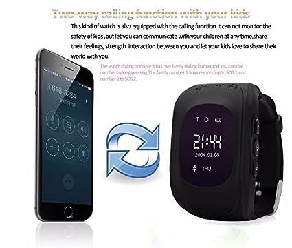 Hangang - Reloj de rastreador GPS para niños, Resistente al Agua, Reloj Inteligente, antirroaming, Llamadas SOS, buscador de niños, Seguimiento en Tiempo ...