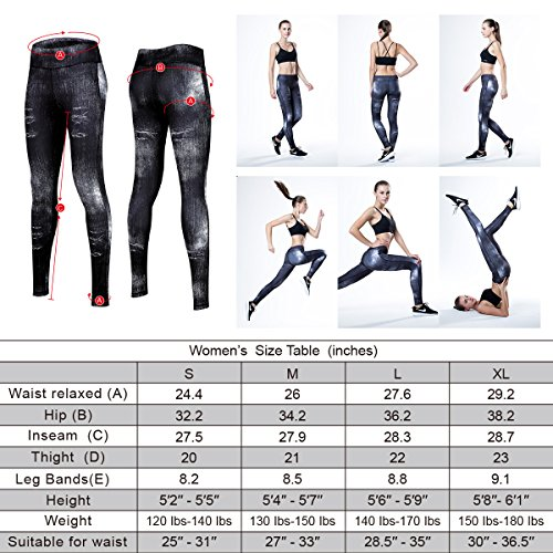 TOOPONE Yoga Pants, Ankle Tights Ladies Workout Leggings With Creative Style Design Suitable For Yoga, Running, Fitness, Outdoor Work ETC.