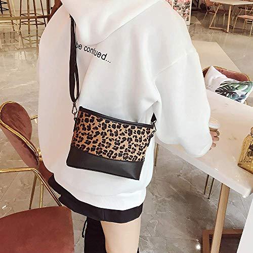 Wild Donna Fashion Meidi Plush Home Ladies Borsa Casual Brown Stampa Piccolo Leopard The a Tide Messenger Bag tracolla Zipper wx7zzaEYq