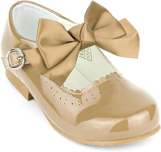 Girls Spanish Style Mary Jane Bow Shoes