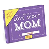 Knock Knock What I Love about Mom Fill in the Love Book Fill-in-the-Blank Gift Journal, 4.5 x 3.25-inches