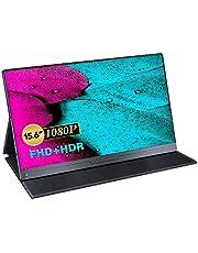 Draagbare Monitor 15.6 Inch, UPERFECT Gaming Monitor Full HD 1920 x 1080 Scherm IPS USB C Monitor met HDMI/Type-C Aansluiting voor Raspberry Pi, Xbox, PS4 etc, inclusief Beschermhoes