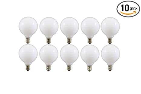 60watt g165 decorative globe e12 candelabra base light bulbs white - Candelabra Base