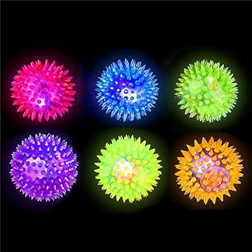 German Trendseller /® 1 x Emoji Balle rebondissante /à Picots┃ LED Clignotante┃ Jeux Lumineuses┃ lanniversaire denfant┃ id/ée Cadeau┃Pochette Cadeau