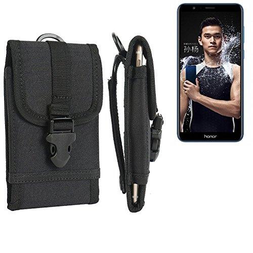 bolsa del cinturón / funda para Huawei Honor 7X, negro | caja del teléfono cubierta protectora bolso - K-S-Trade (TM)