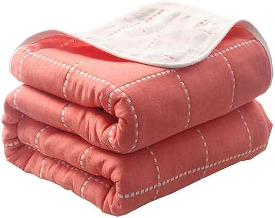 Mantener Caliente Mantas, algodón Grueso Mantas, edredones Toalla japoneses, Siesta Aire Acondicionado Mantas de algodón, edredones, Mantas Toalla. De Espesor (Color : D, Size : 150cm*200cm): Amazon.es: Hogar