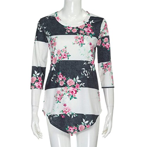 Donna Stampa Maglietta YUMM Sciolto Ladies Shirt T Bianca Casuale Top Floreale Camicetta Tops tBCnqdwC