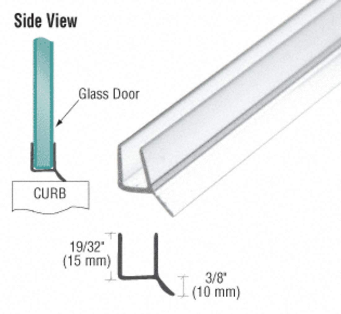 CRL Dual Durometer PVC Seal and Wipe for 1/2'' Glass - 98 in long