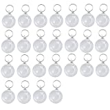 Rugjut Acrylic Snap In Round Photo Keychains , 25Pcs