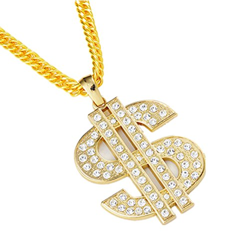 jou Fashion Jewelry The New Design Dollars Chain Necklace Cool Hip-Hop Dance Style Pendant Necklace