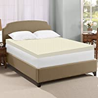 Spring Solution High Density 2-inch Foam Mattress Topper, Adds Comfort to Mattress, Full Size