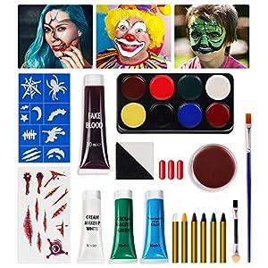 Best Epic Trends 5103Y4HkmNL._SS300_ SOOFUN Halloween Makeup, Halloween Makeup Kit, Halloween Face Paint Makeup, Zombie Makeup, Vampire Makeup, Halloween…